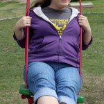 Miranda enjoys a swing.
