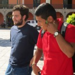 Andrew and Alejandro in the main plaza.