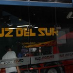 The Cruz del Sur bus that will take Jaime and Miranda to Chiclayo, on the northern Peruvian coast.