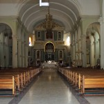 The interior of the Santa Ana Cathedral in Tarma.