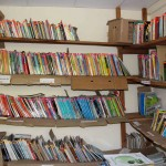 Books in the community library.