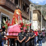 A procession in downtown Tarma in honor of the Feast of the Sacred Heart.