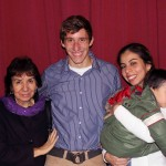 Tim with his host mother, Norma Seson Guevara, host sister, Normita, and host nephew, Leonardo.