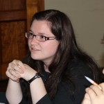 Miranda listens to Rev. Zamudio's sad presentation,