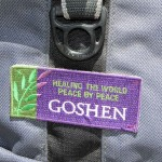 A patch on Brian's backpack leaves no doubt where he is from.