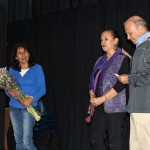 Host parents Genoveva Angulo Ibarra and Sonia and Percy Peralta Olaechea pay tribute to Peru SST Co-Directors Judy Weaver and Richard R. Aguirre.