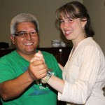 Leah dances with her host father, Fernando Angulo Ibarra.
