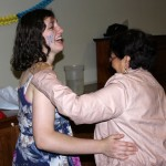 Jaime dances with her host mother, Lucy Rodriguez Nima.