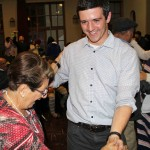 Brian dances with his host mother, Luisa Fallaque Bossio.