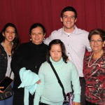 Brian with his host mother, Luisa Fallaque Bossio (right) and other family members.