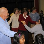 Peru SST Co-Director Judy Weaver joins in the dancing.