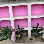 Many tombs are painted in bright colors.