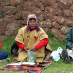 The shaman uses coca leaves, with are an integral part of Andean life.