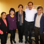 Equipo Goshen (Team Goshen) for 2013-2014 (from left): Program Assistant Alicia Taipe Tello; Study Coordinator Celia Vasquez, Peru SST Co-Directors Judy Weaver and Richard R. Aguirre; and Service Coordinator Willy Villavicencio.