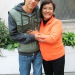 Armando with his host mother.