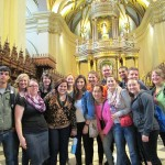 Goshen students in the Cathedral of Lima in the central plaza downtown.