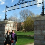 Our daughters, Kate, left, and Emily, on commencement day at Goshen College.