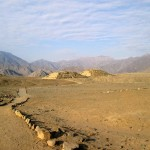 A last look at the ancient city of Caral as we head to the bus.