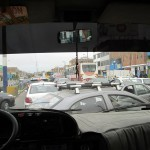 Heading home through Chorrillos traffic.