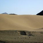 Sand dune near the entrance to Caral.