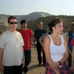 Students listening our guide (Shina, Max, Armando, Maddie, Abby & Laura, with Duane).