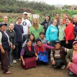 A group photo with Gregoria and community gardeners.