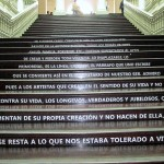 Steps at former train station, now Casa de la Literatura Peruana.