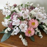 We often benefited from lovely flower arrangements following weddings held at the church.