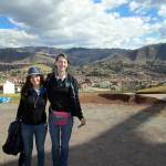 Lydia with Emily, Duane and Karen's daughter, currently volunteering at a school in San Jeronimo.