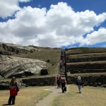 Climbing at Sacsayhuamán.