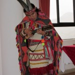 One of our presenters plays a charango.