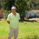 Pastor Eloy Sullca Bombilla, our host at the trout farm.