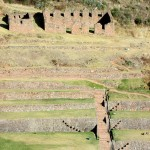 Terraces and ruins at Tipón.