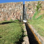 One of many irrigation channels at Tipón.