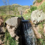 An irrigation channel at Tipón.
