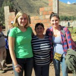 Abby and Maddie with their host mother in Lucre before leaving to visit the Sacred Valley.