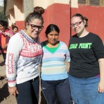 Frances and Jessica with their host family in Lucre before leaving to visit the Sacred Valley.