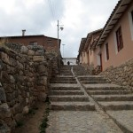 The stone streets of Chinchero.