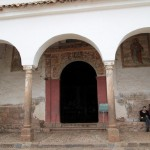The door to the church at Chinchero. No photos are allowed inside.