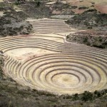 The concentric circles, or terraces, of the archaeological site of Moray.
