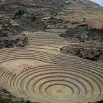 The concentric terraces of Moray, arranged in an earthen bowl.