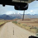 View from the bus of the terrain we drove through on our way to Ollantaytambo.