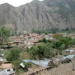 A view of Ollantaytambo as we hike up to the colcas.