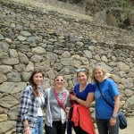 Maddie, Mariah, Elizabeth and Abby on their way up to the fortress at Ollantaytambo.