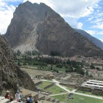 View from the fortress at Ollantaytambo.