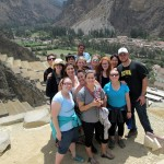 A group photo above Ollantaytambo.