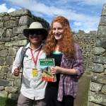 Abraham and Laura, who won a guide book of Machu Picchu.