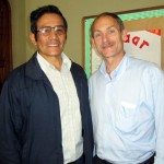 Reverendo Jorge Zamudio poses with Duane following his lecture at Buen Pastor.