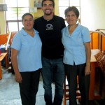 Trevor with the directora and a long-time teacher, who works with the deaf.