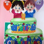 Feliz Cumpleaños: the children's birthdays are listed by the month.